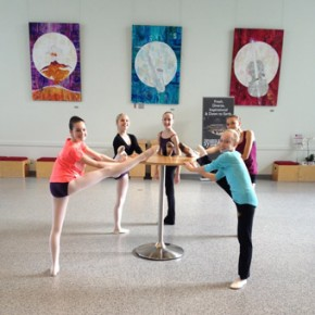 Dance Students Exercising