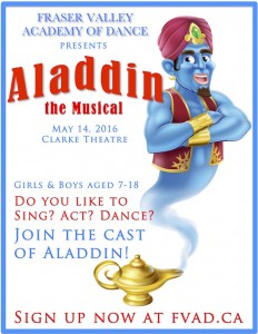 Aladdin the Musical Poster