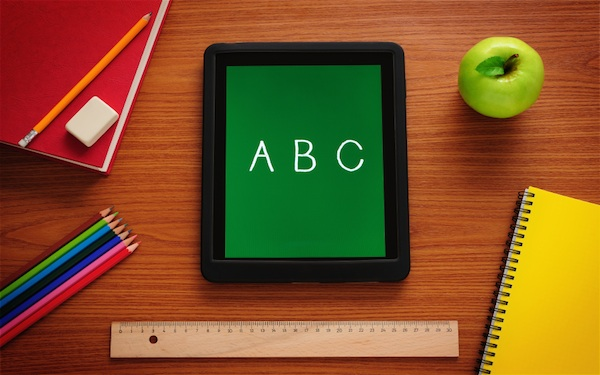 FVAD Academic Studies (FAS) Classroom ABC with ruler, apple, tablet