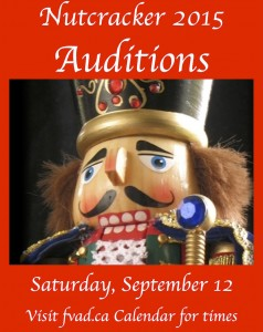 Nutcracker 2015 Auditions - Saturday September 12th