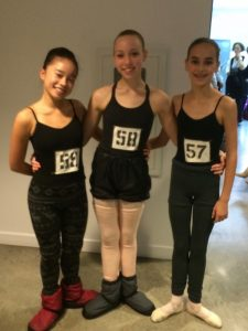 FVAD Students Ann Li Jie, Marin, Priscilla at an audition