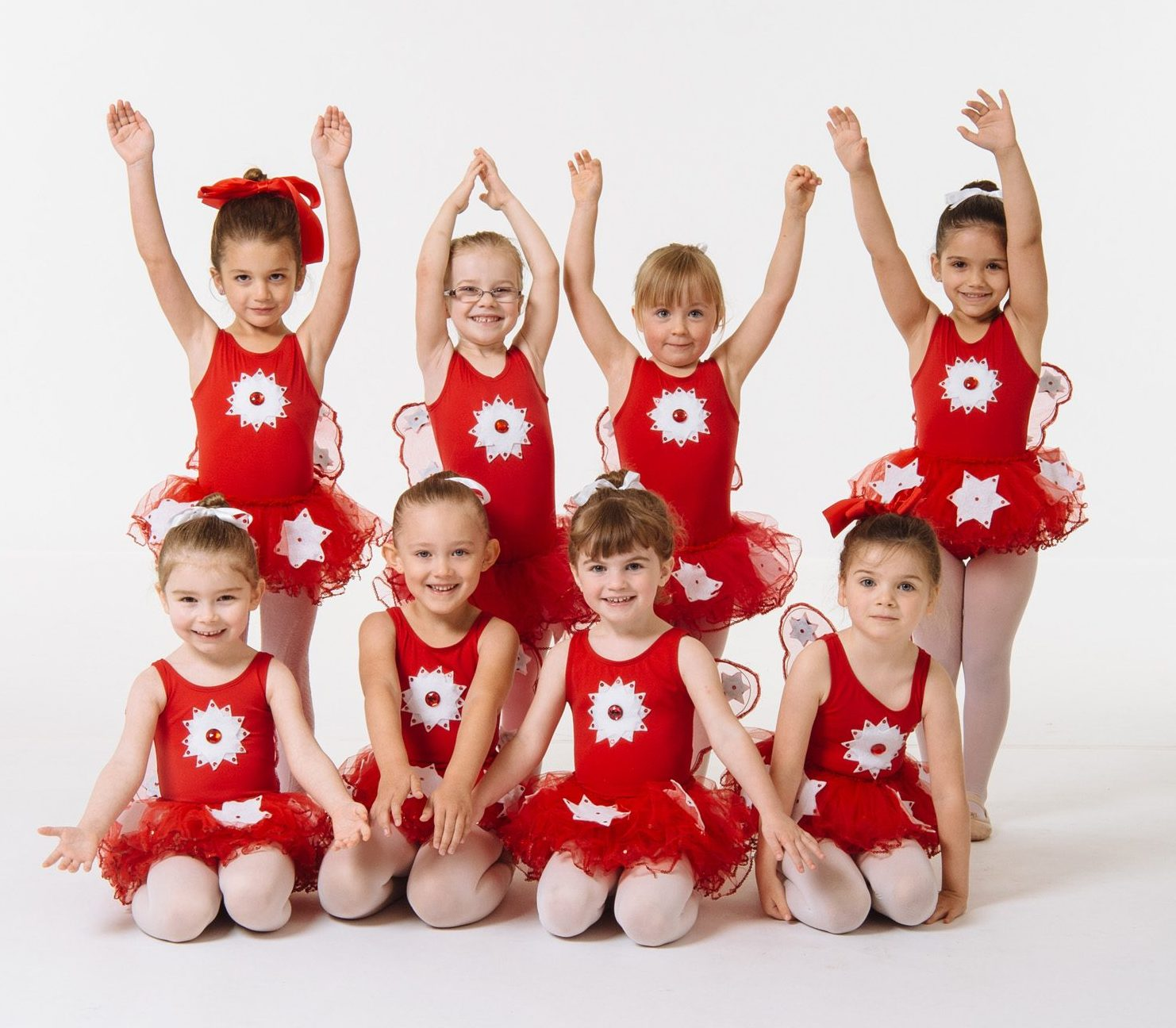 FVAD Pre-school dance class in red tutus with white stars. Photo by Revival Arts.