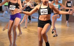 Dance competition contestants