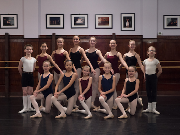 FVAD students pose for photo after successful auditions to Canada's top ballet company schools
