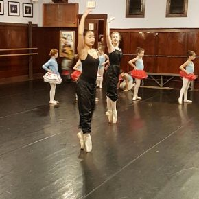 FVAD students rehearsing for Nutcracker Candy Canes