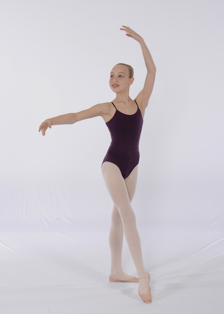 Plum leotard for FVAD Grade 6 Ballet 2017-18