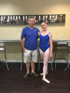Summer Student Tour 2017 - Mr. Carney with Kaylie