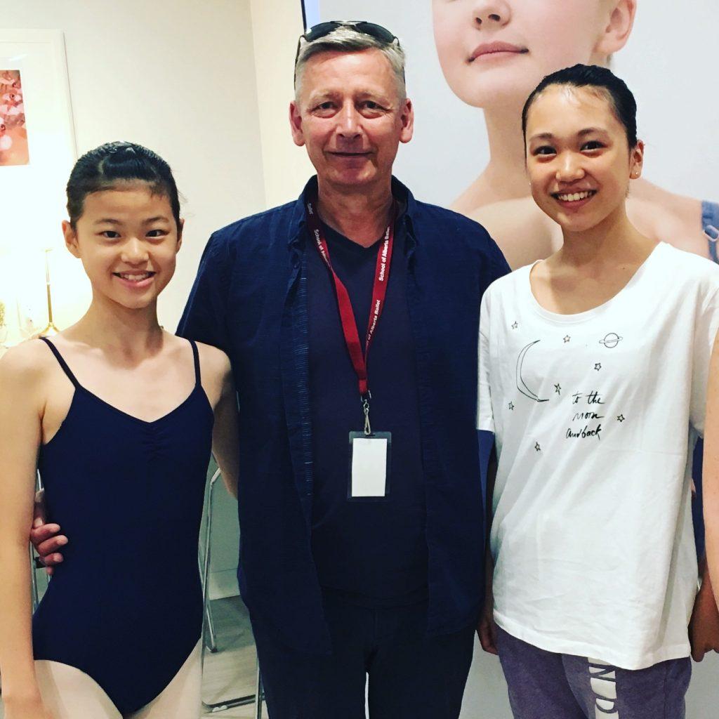 FVAD Japanese students at Alberta Ballet School