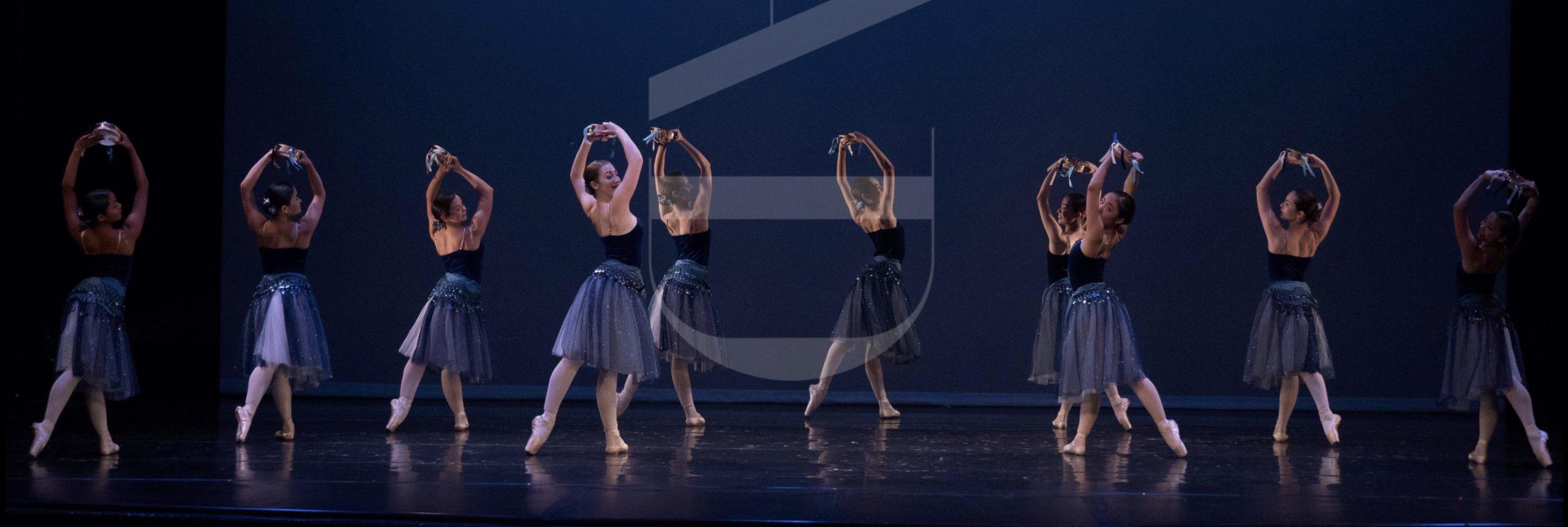 Events Banner 2019. Esmeralda ballet with tutu and tambourines at Clarke Theatre 2018.