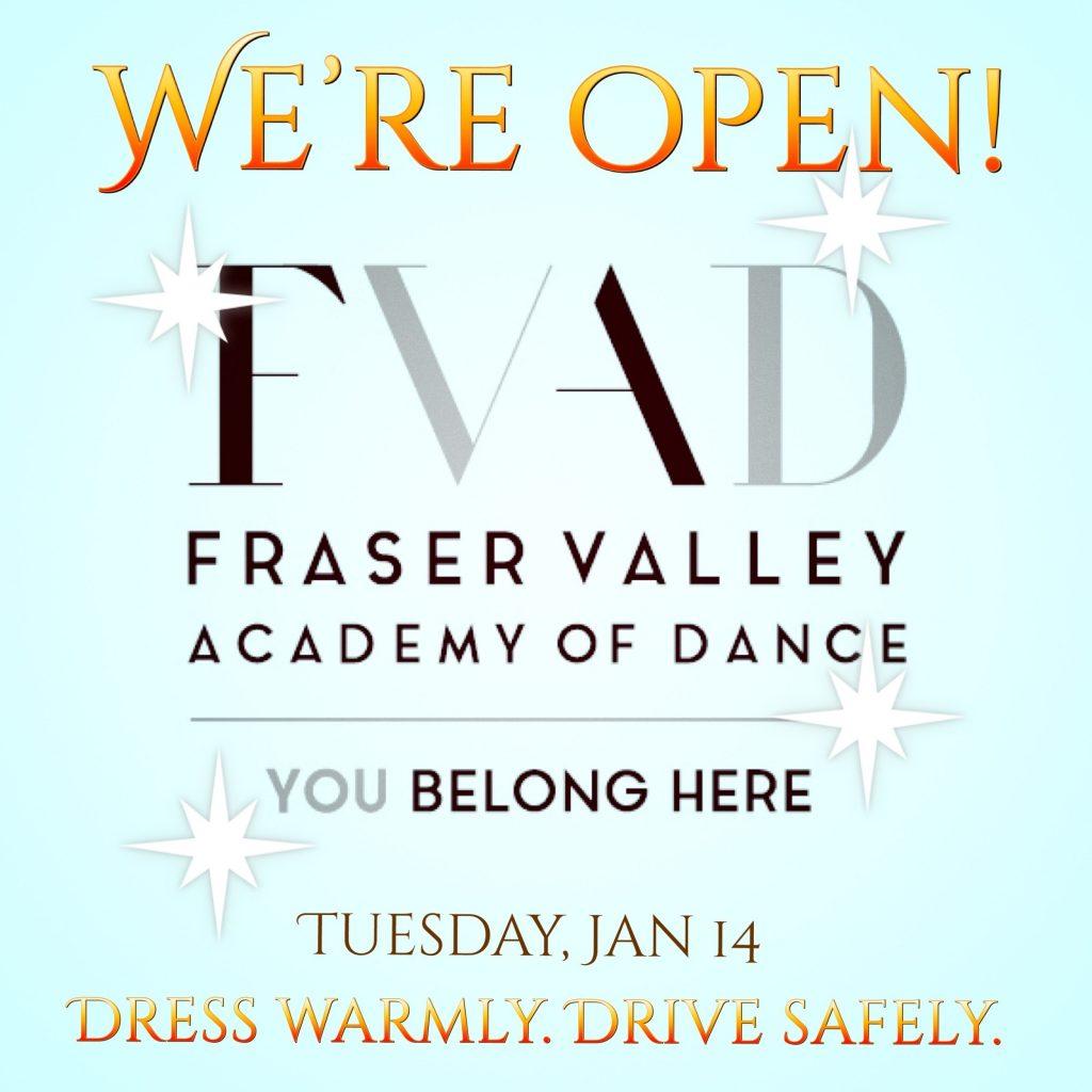 FVAD is open Jan 14 2020