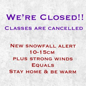 School is closed Tues Jan 14