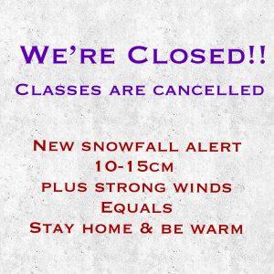 School is closed Tues Jan 14