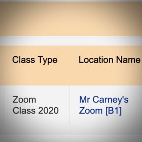 Class Location is now the Zoom class link.